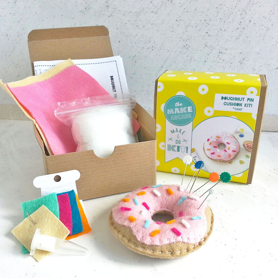 food-themed, travel, donut, sewing kit