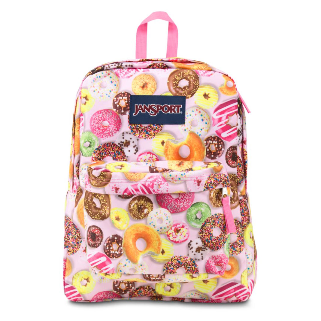 food-themed, travel, donuts, backpack