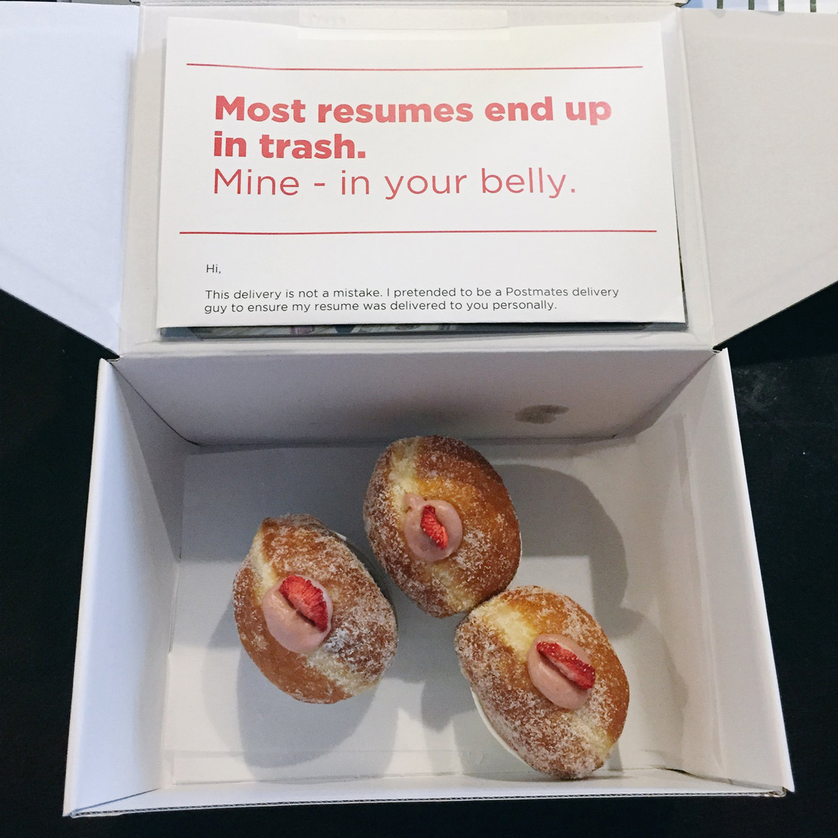 Doughnut Resume Delivery