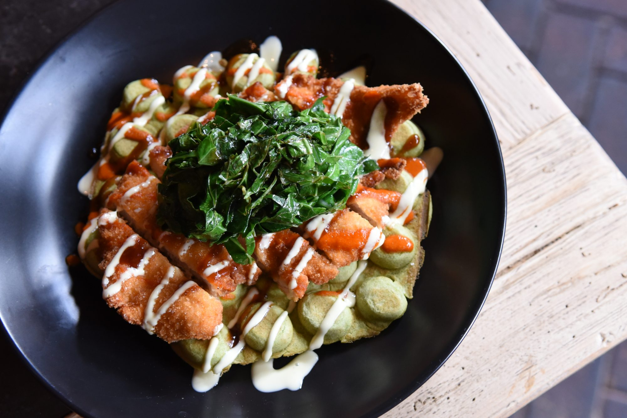 Thai Basil Chicken and Waffles