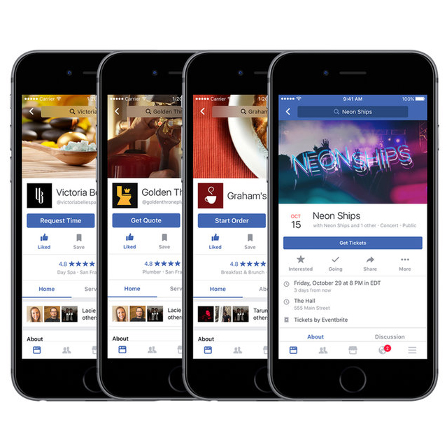 Facebook Will Soon Give You the Option to Order Food and Buy Movie Tickets