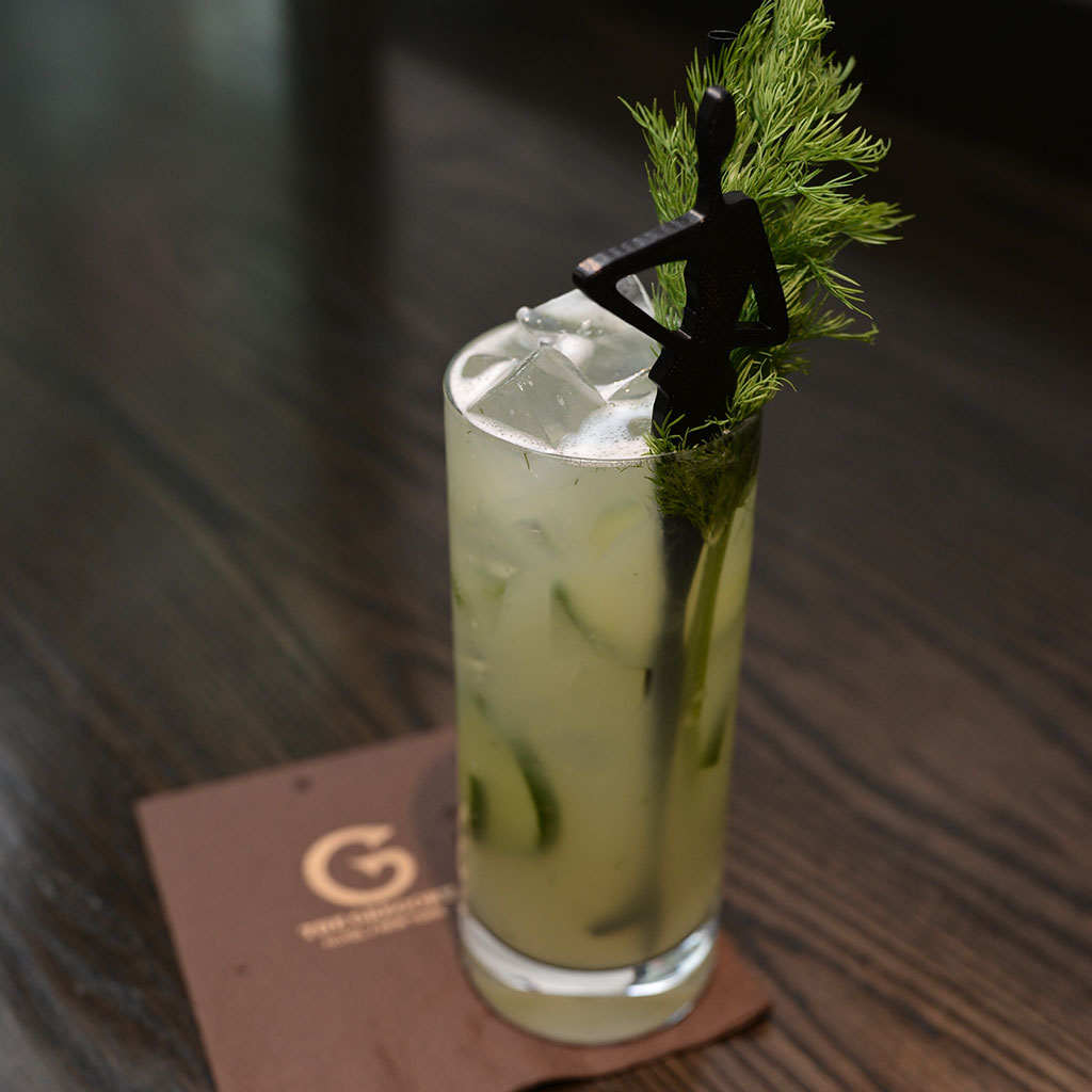 Hickey Freeman's gin cucumber Hickey cocktail