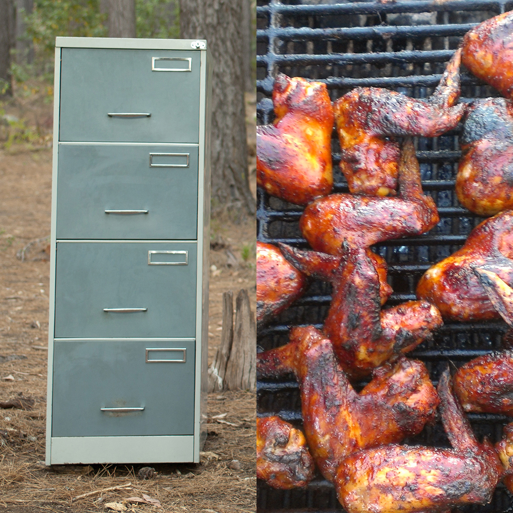 smoker, filing cabinet, grill