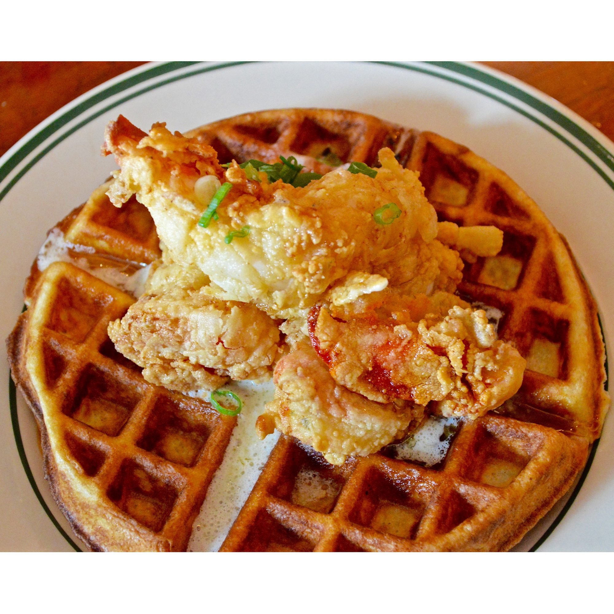 Saltie Girl, Fried Lobster and Waffle