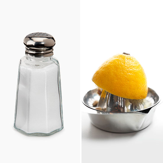 salt and lemon juice