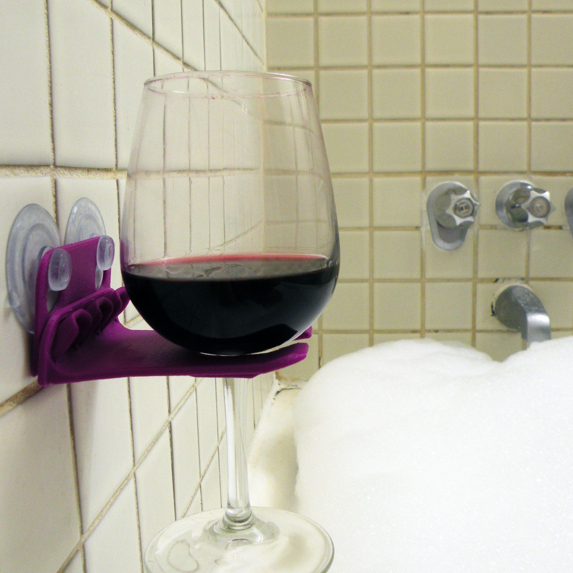 FWX 6 QUESTIONS WITH THE INVENTOR OF THE SHOWER WINE GLASS HOLDER