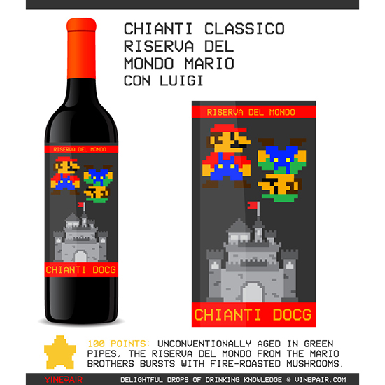8-Bit Wine Labels for Nintendo Lovers