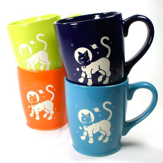 Astro Cat Mugs (Set of 4)
