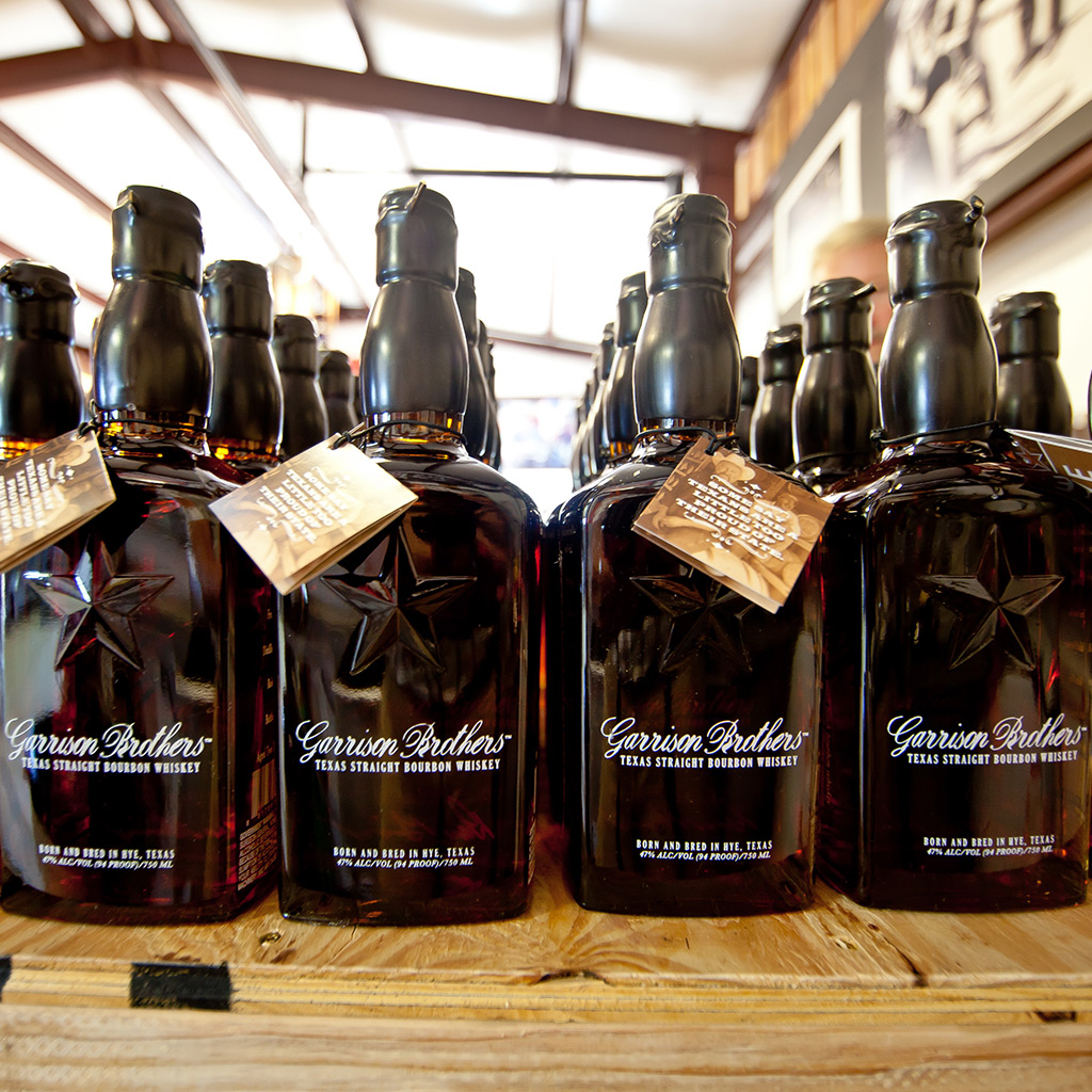 FWX AMERICAN BOURBONS GARRISON BROTHERS BOTTLES