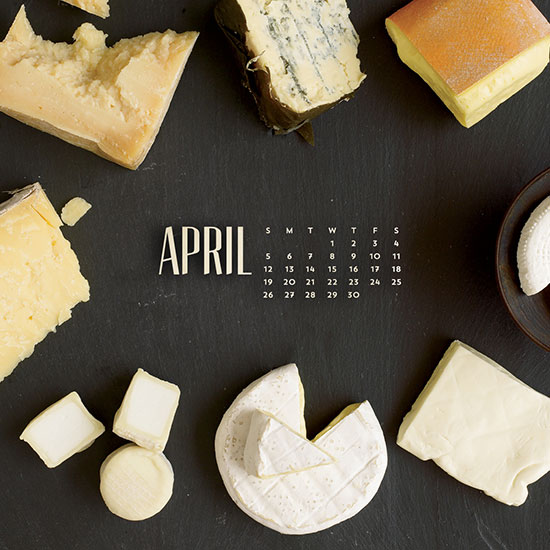 FWX APRIL CALENDAR CHEESE