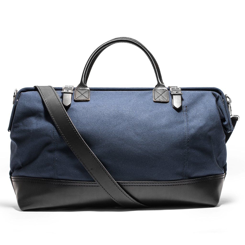 Canvas and Leather Weekender Bag