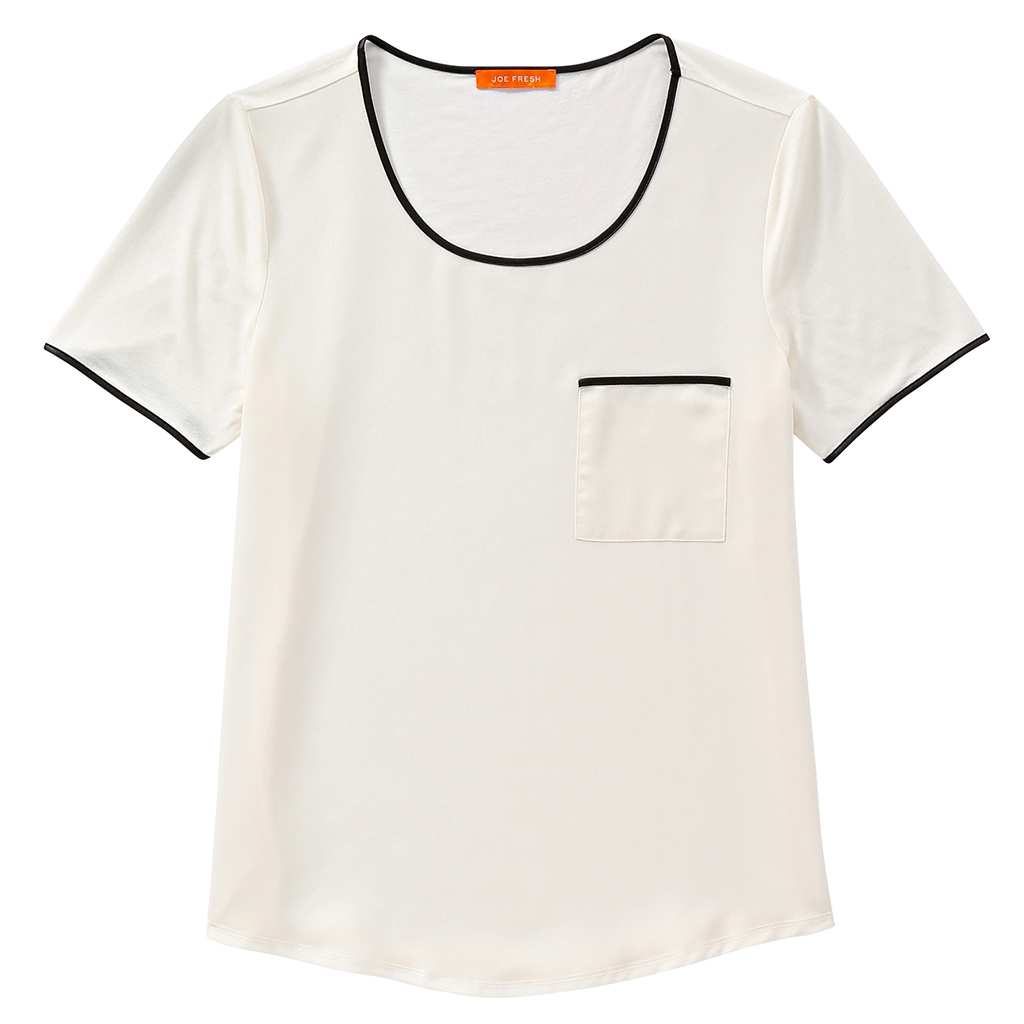 Joe Fresh Contrast Trim Tee