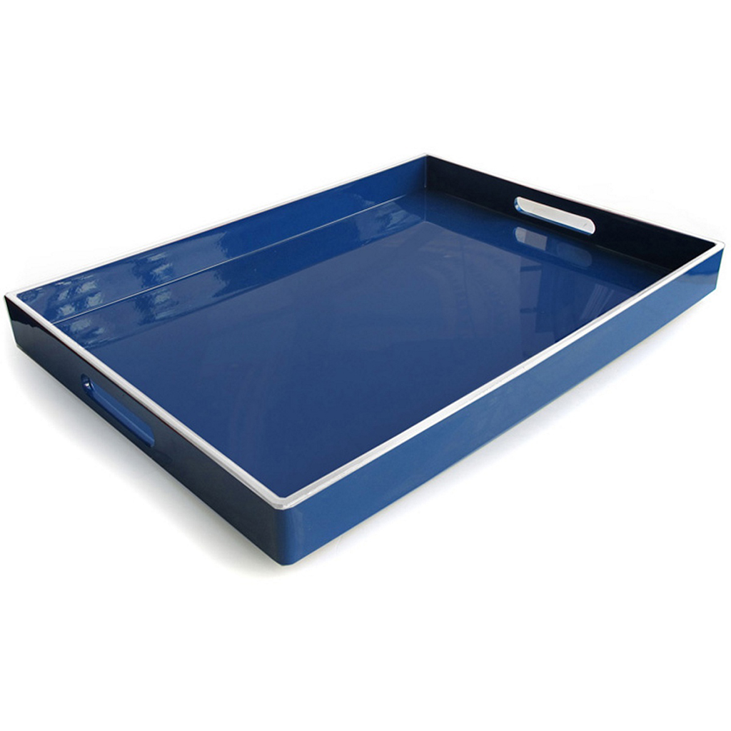 Navy Lacquer Tray