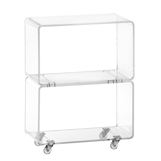 Peekaboo Clear Rolling Two-Shelf