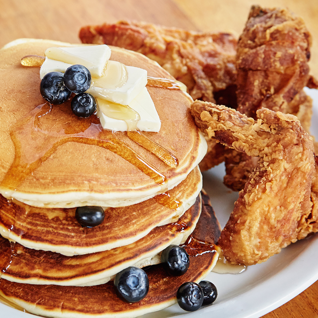 Chicken and Pancakes—Because Waffles Shouldn't Have All the Fun