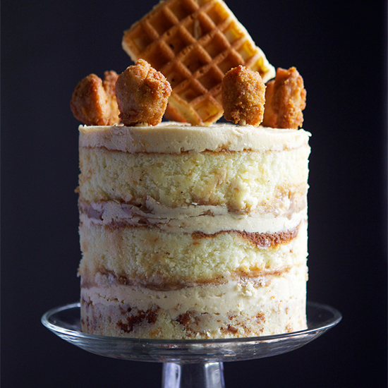 Chicken and Waffles Cake