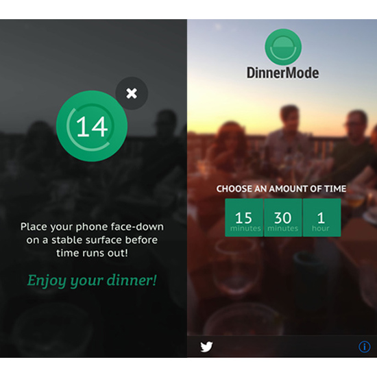 FWX DINNER MODE APP SCREENS