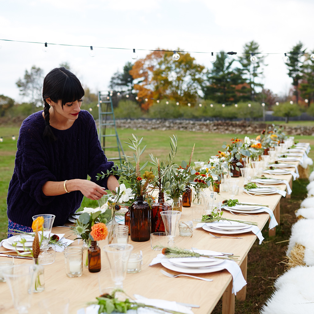 Fall Dinner Party Ideas Part - 31: FWX DOMAINE ATHENA CALDERONE FARM DINNER ARRANGEMENTS