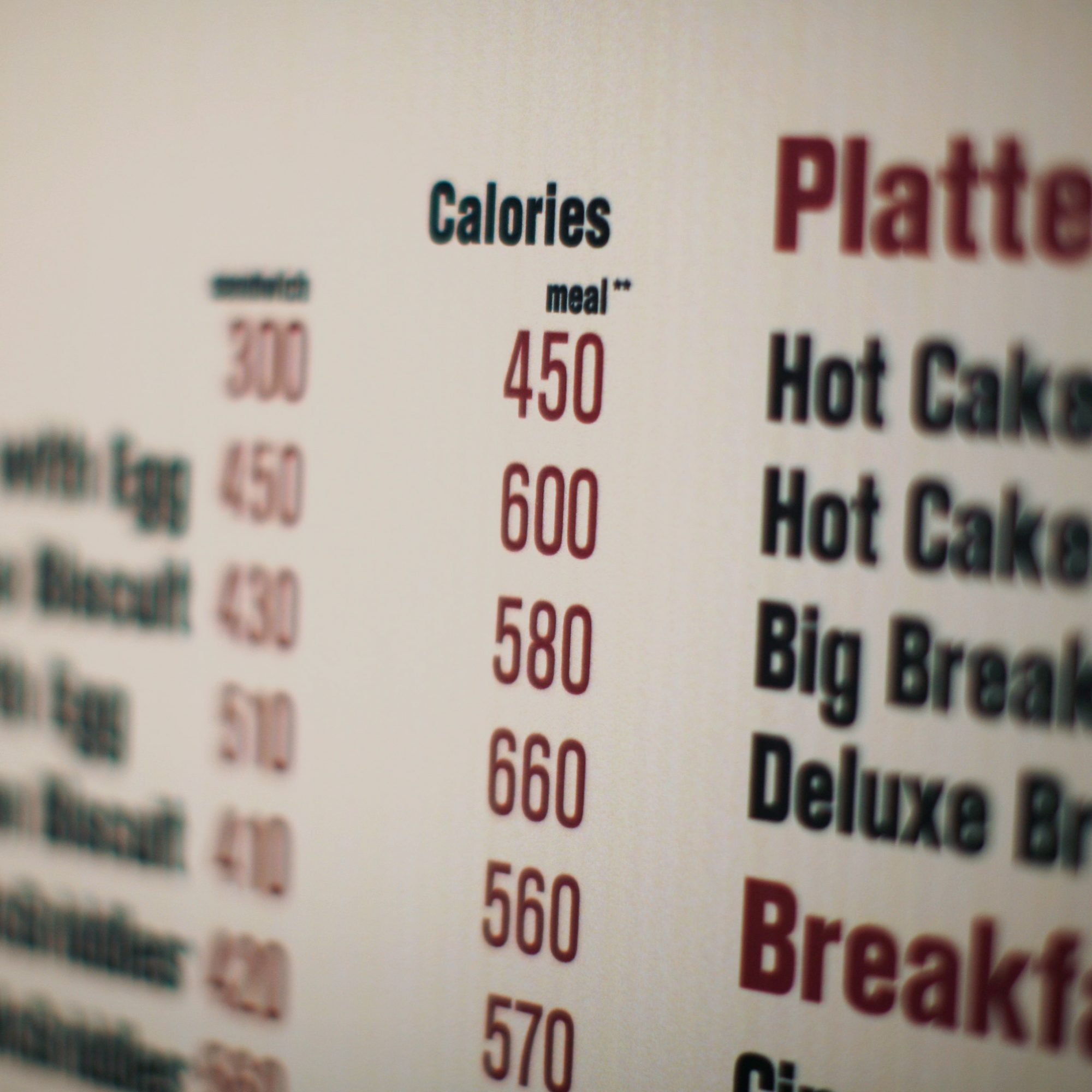 FWX FAST FOOD CALORIES