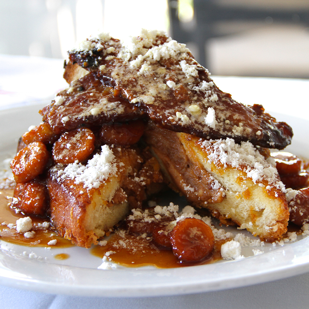 Foie Gras French Toast with Peanut Butter Mousse