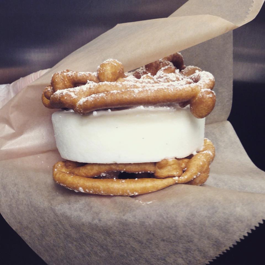 Funnel Cake Ice Cream Sandwich La