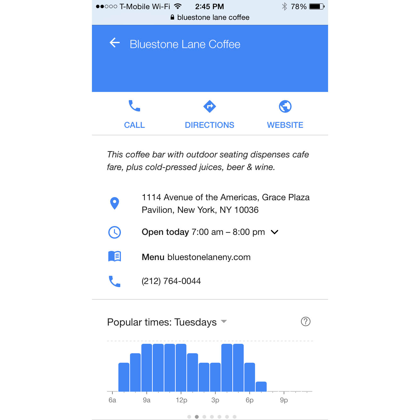 Google Tracks Us So Much It Can Now Tell Us When Restaurants and Bars Are Busiest