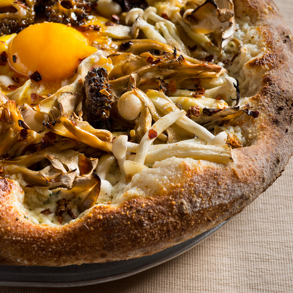 Mushroom & Fried Egg Pizza