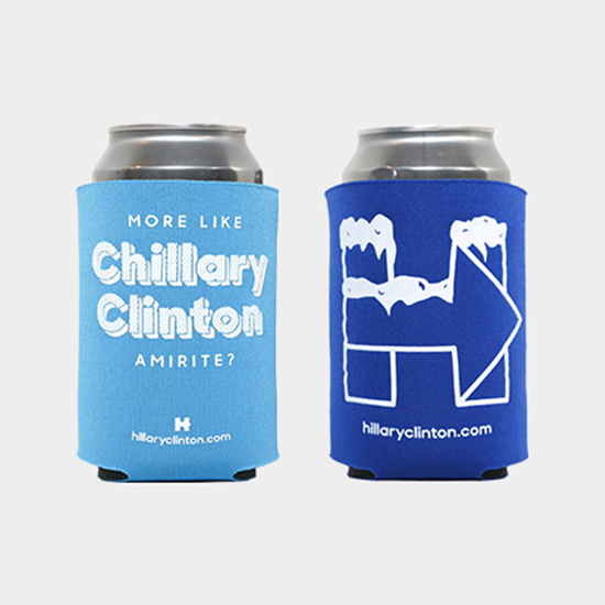 Hillary Clinton-ify Your Cookout with Branded Koozies and Grillware
