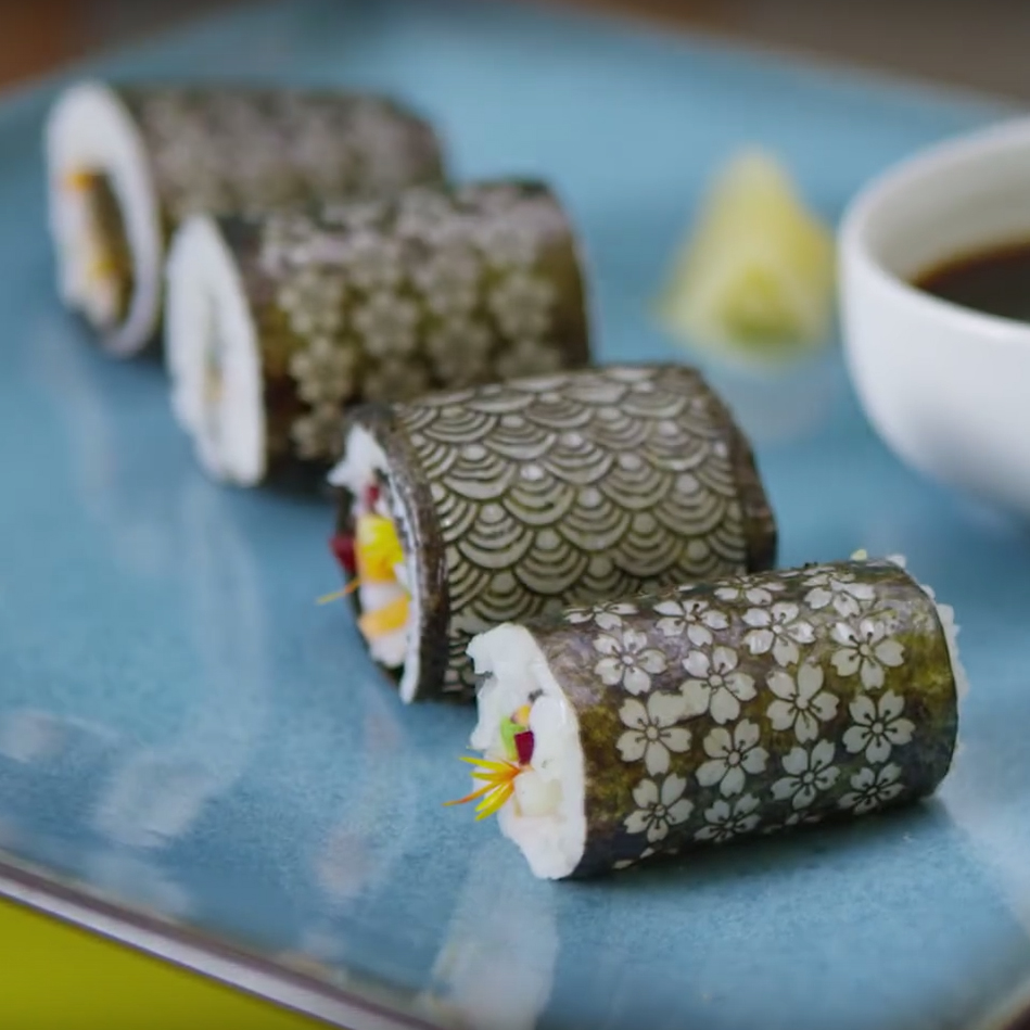 Laser Cut Sushi Is the Most Unique Looking Way to Eat Raw Fish ...