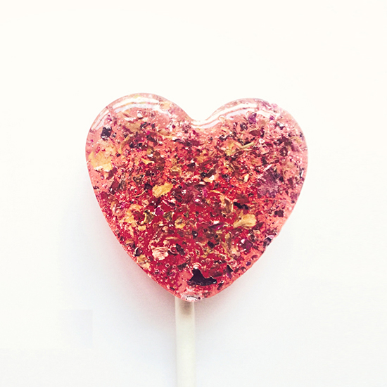 FWX LECCARE LOLLIPOPS ROSE AND HONEY HEART