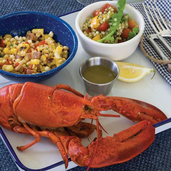 Steamed Lobster with Lemon Thyme Butter