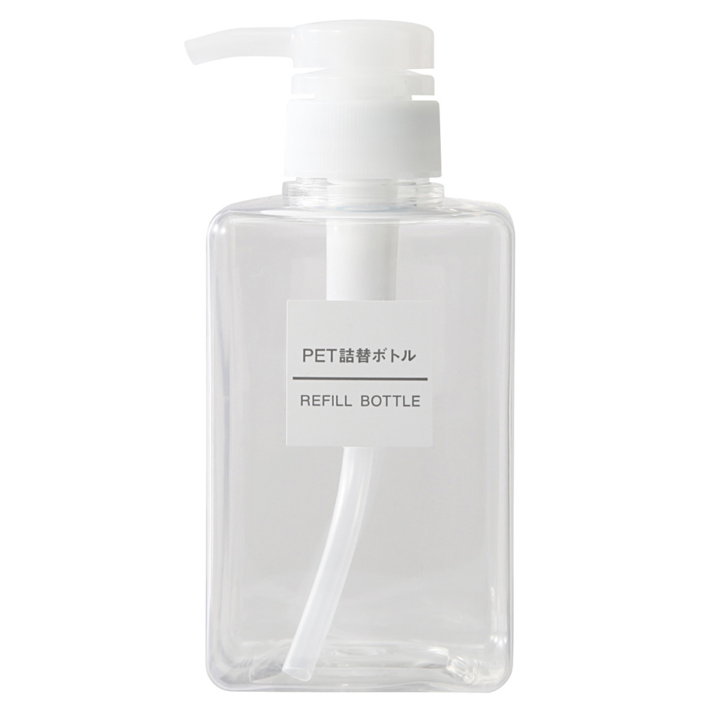 Muji PET Rectangular Pump Bottle