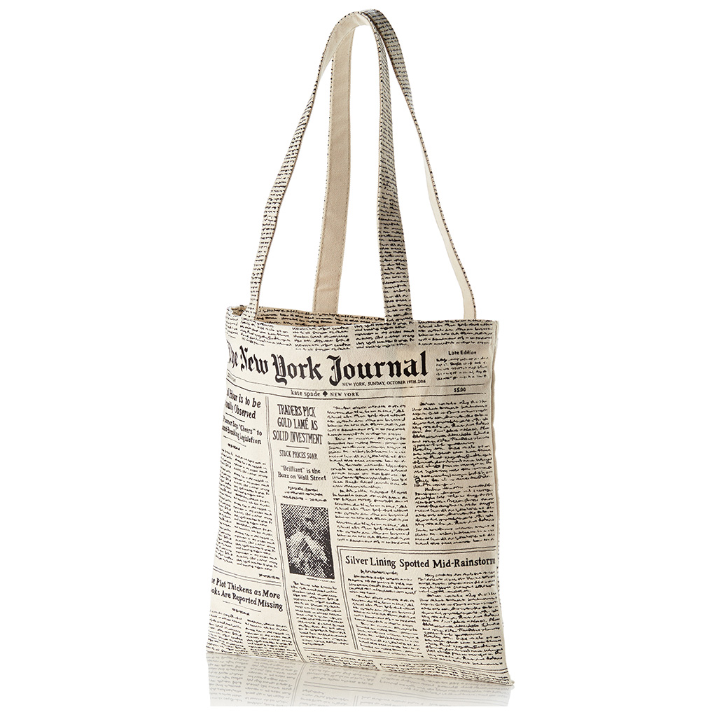 Kate Spade New York Newspaper Print Canvas Tote