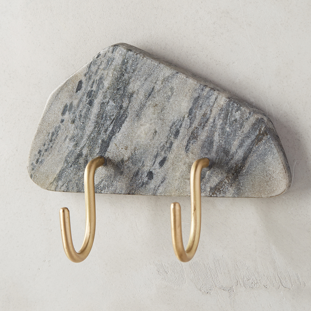 Silvered Marble Hook