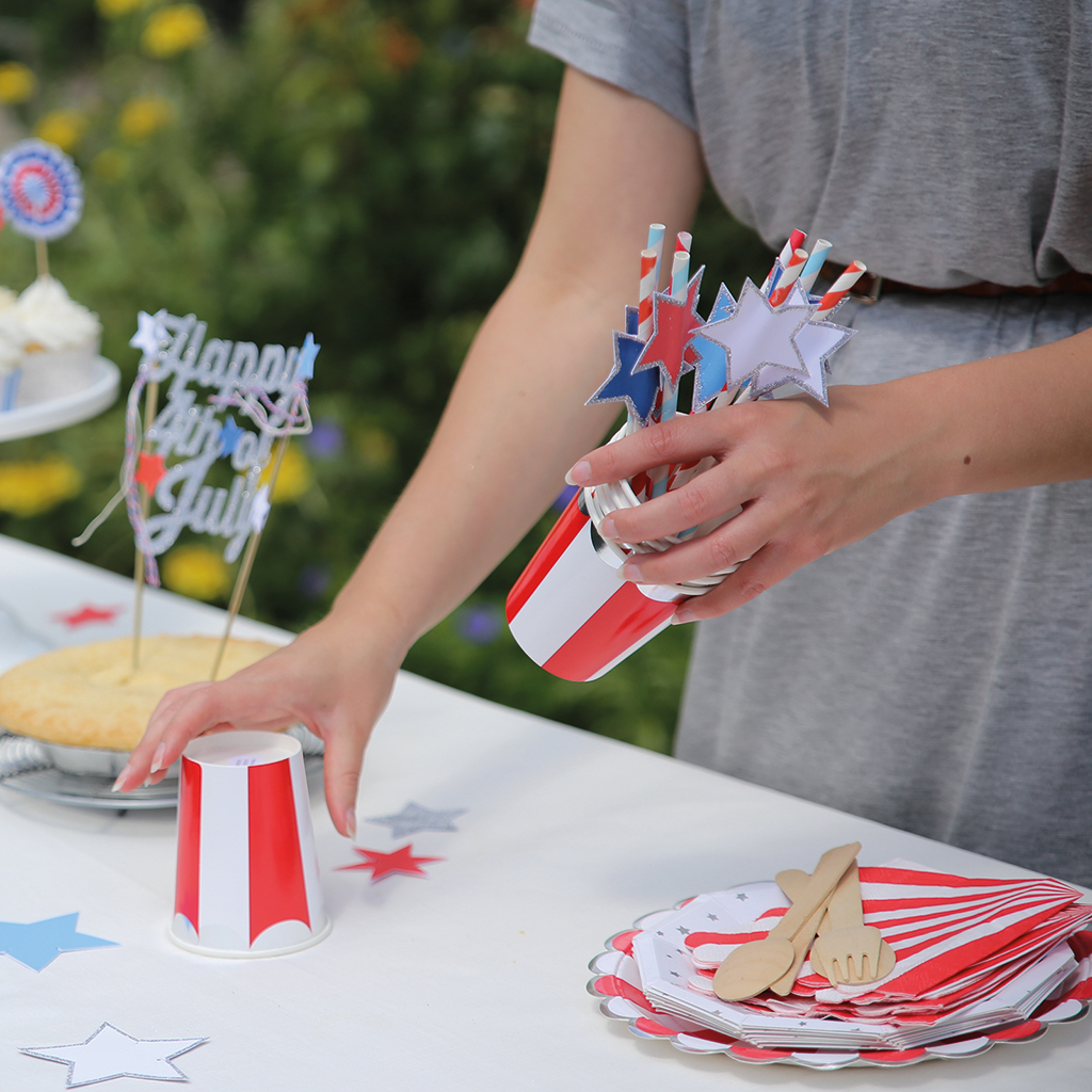 Stars and Stripes Party Straws