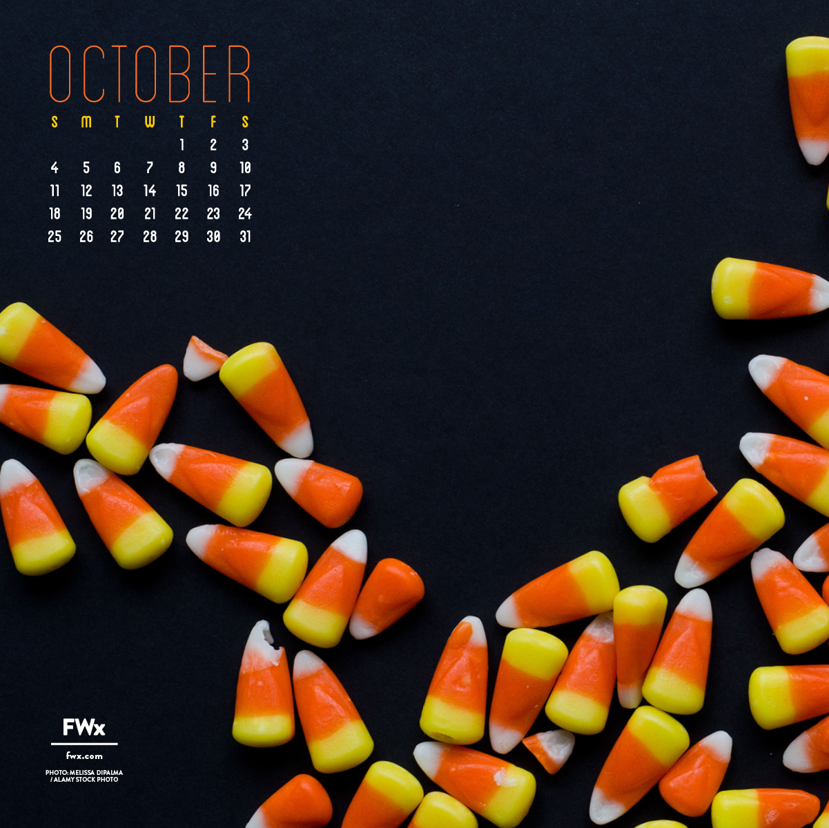 Bring on The Sugar Rush With FWx's October Wallpaper: Download Now