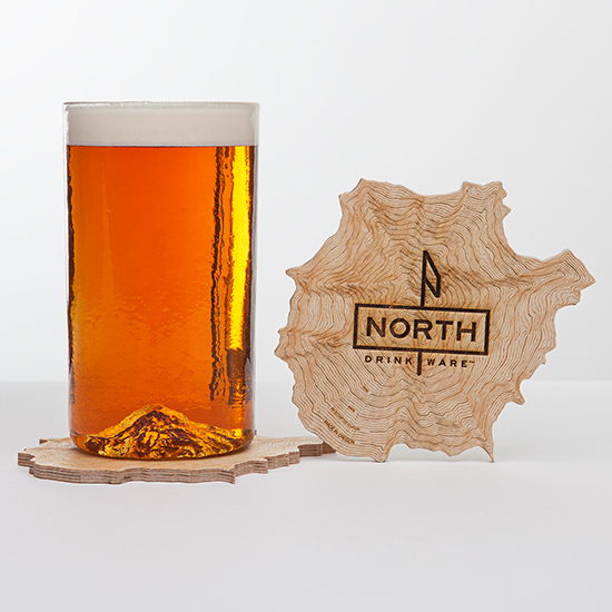 FWX OREGON PINT GLASS COASTER