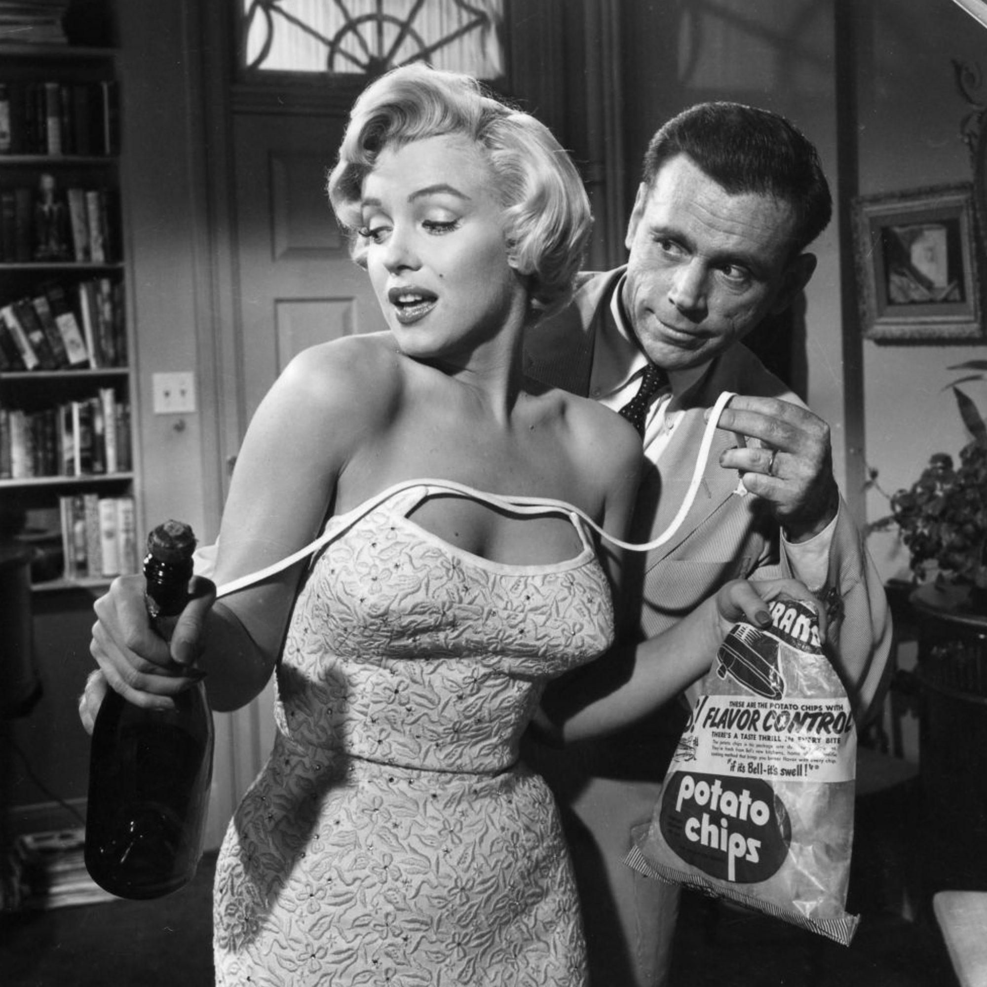 Marilyn Monroe and Tom Ewell in The Seven Year Itch.