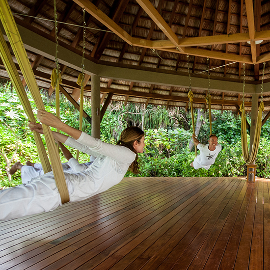 Antigravity Yoga in the Jungle