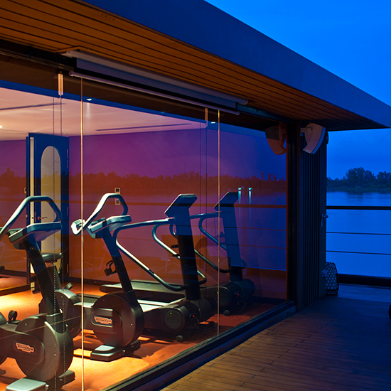 Floating Gym in Cambodia