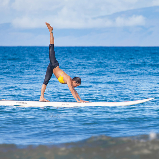 Stand Up Paddleboarding Yoga in Maui
