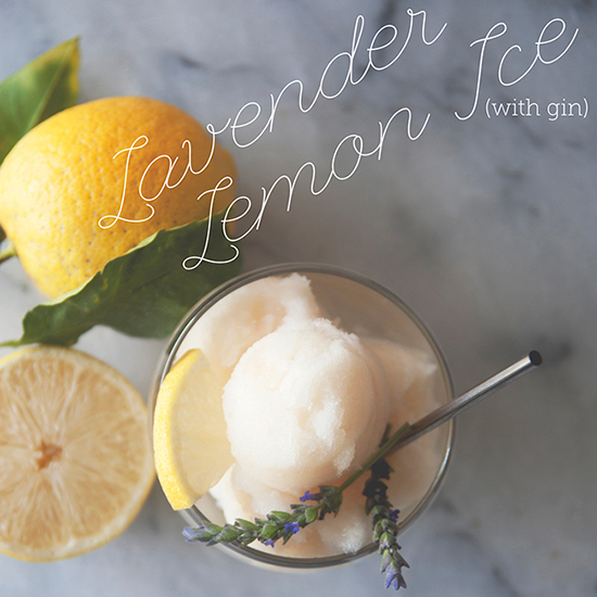 Lavender Lemon Ice