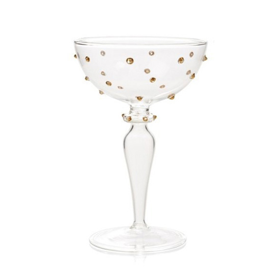 Dotted Champagne Coupes