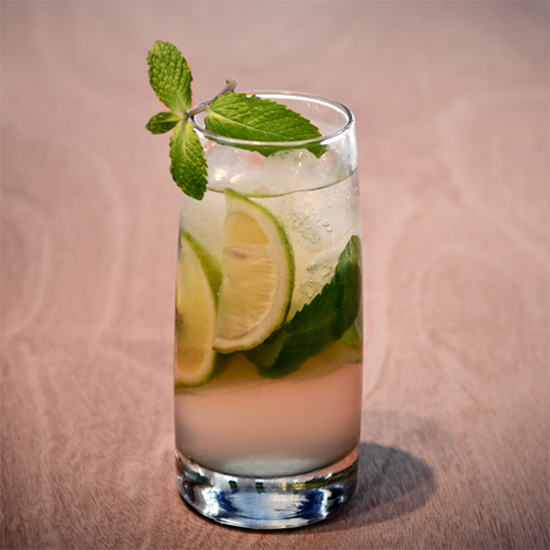 Gin or Bourbon Rickey