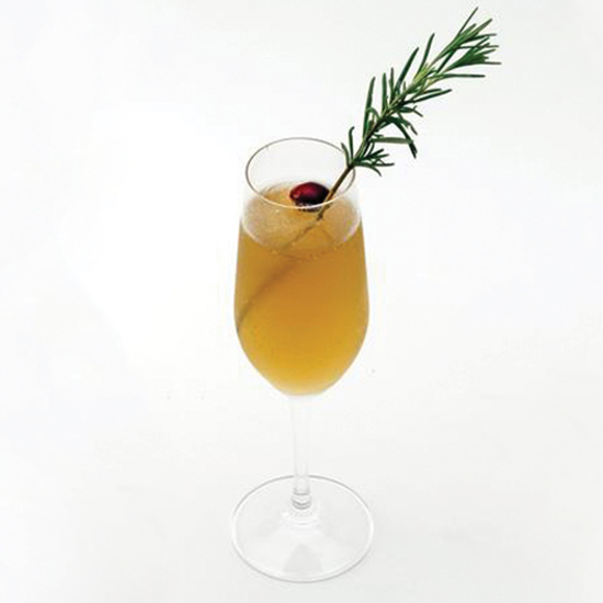 Persimmon Champagne Cocktail