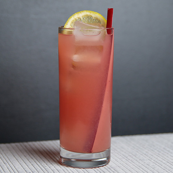 Rhubarb & Strawberry Collins