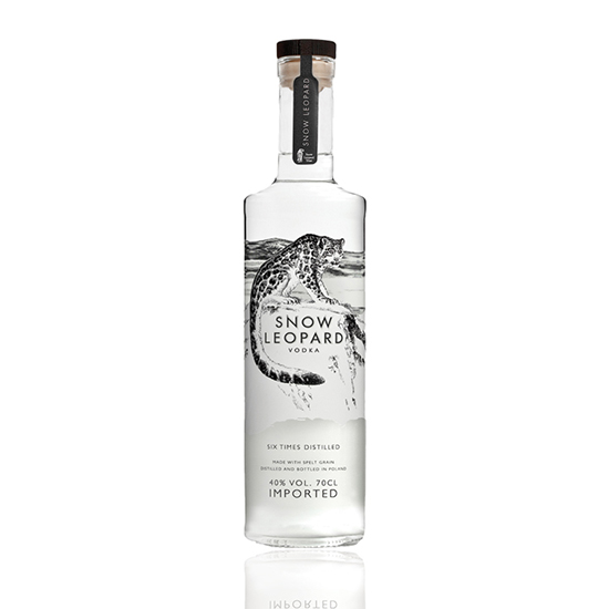 Snow Leopard Vodka, $40