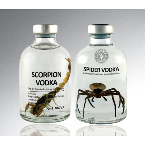 Creepy Factor: Thailand Unique's Scorpion- and Spider–Infused Vodkas