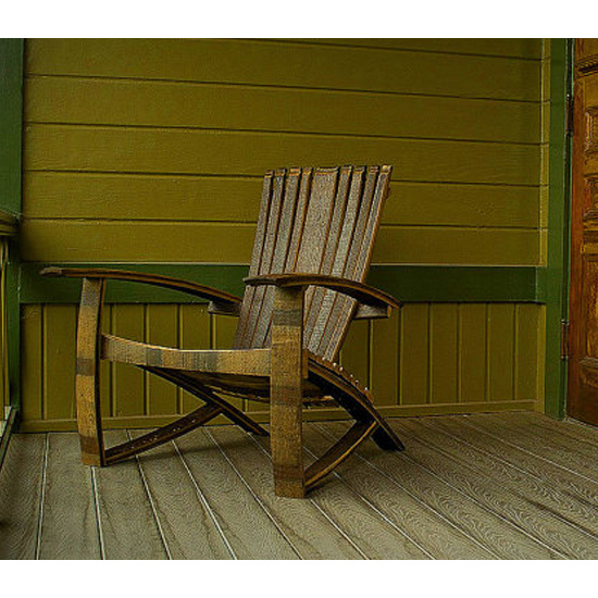 Bourbon Barrel Adirondack Chair