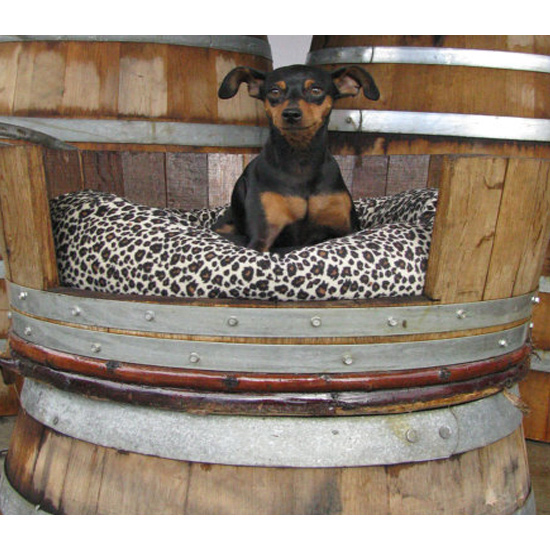 Oak Barrel Pet Bed